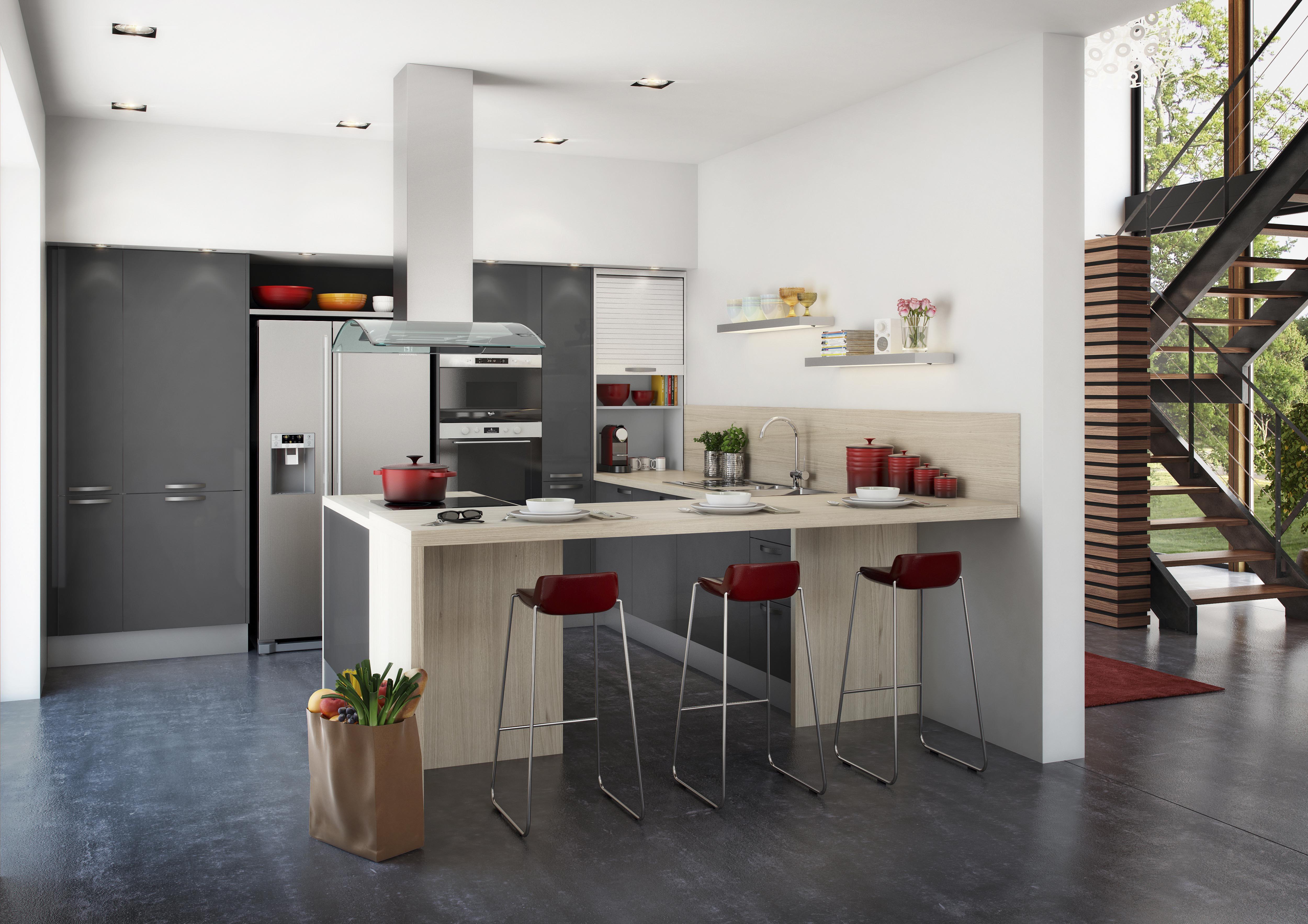 Davausnet Cuisine Hygena Rouge City Avec Des Idées - Hygena cuisine