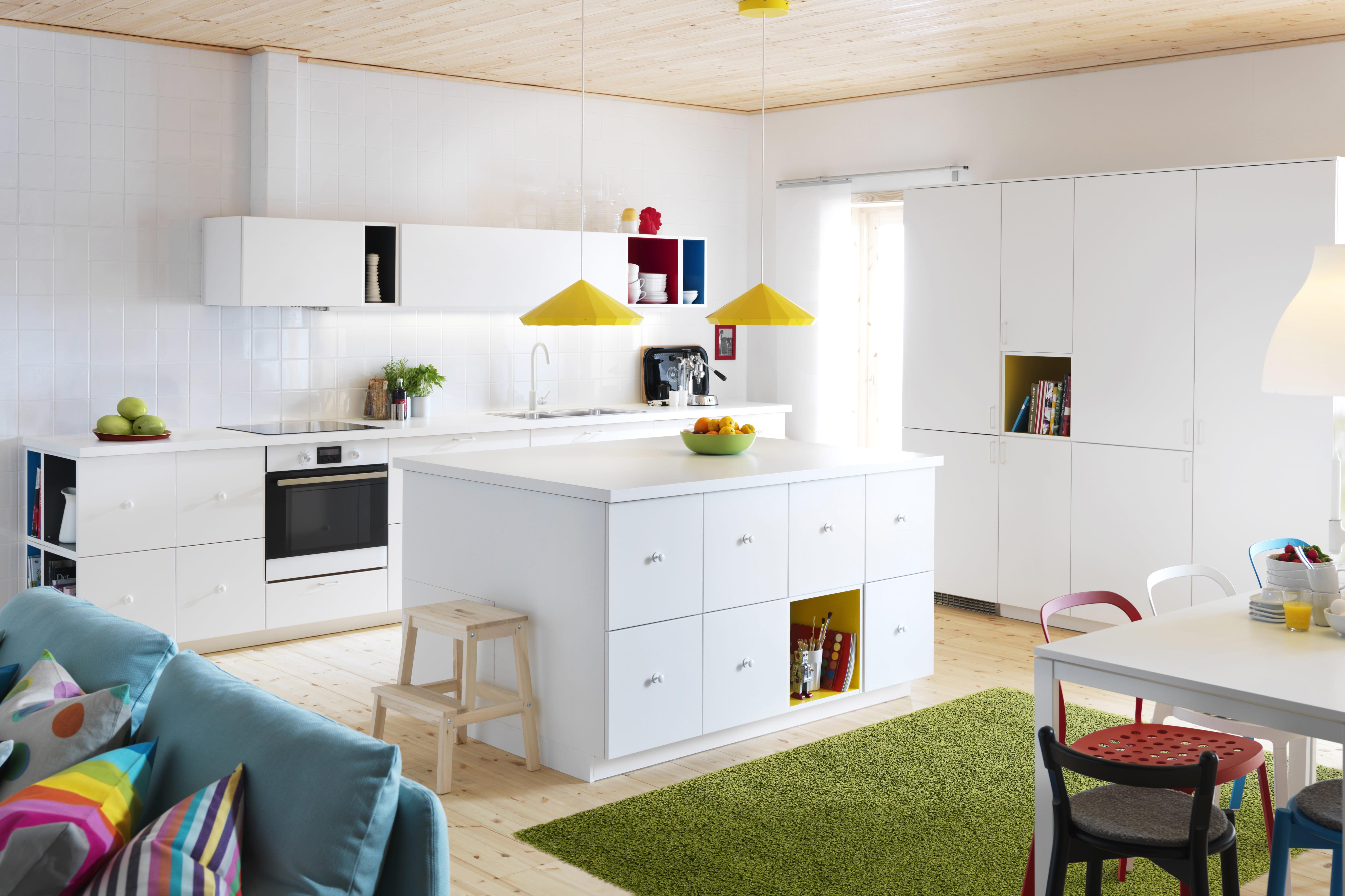 Chambre Bleu Marine Et Blanche : Cuisine Metod  Veddinge IKEA  Cuisine  32 nouveautés faciles à