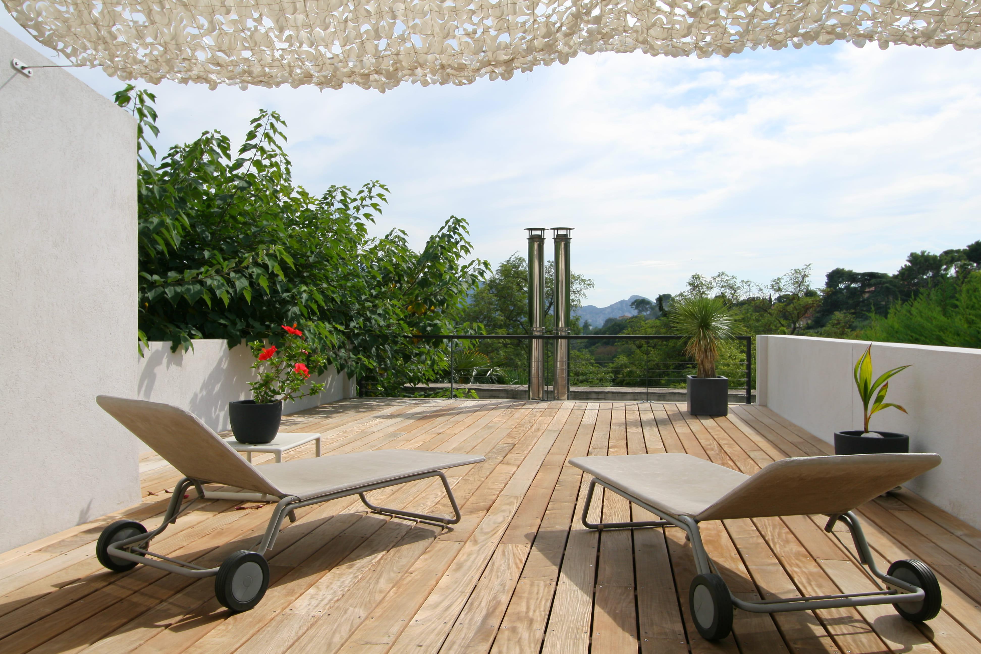 Terrasse Sur Toit : Une terrasse sur le toit