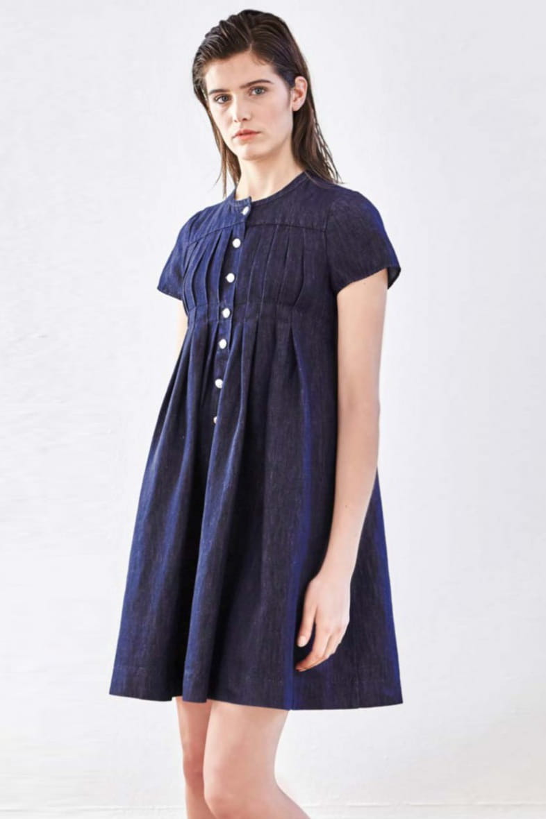 Robe courte en jean de pablo dressing 100 denim for Robes de jardin courtes
