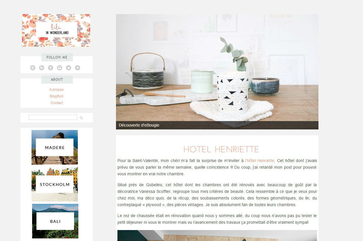 le blog du moment lili in wonderland journal des femmes. Black Bedroom Furniture Sets. Home Design Ideas