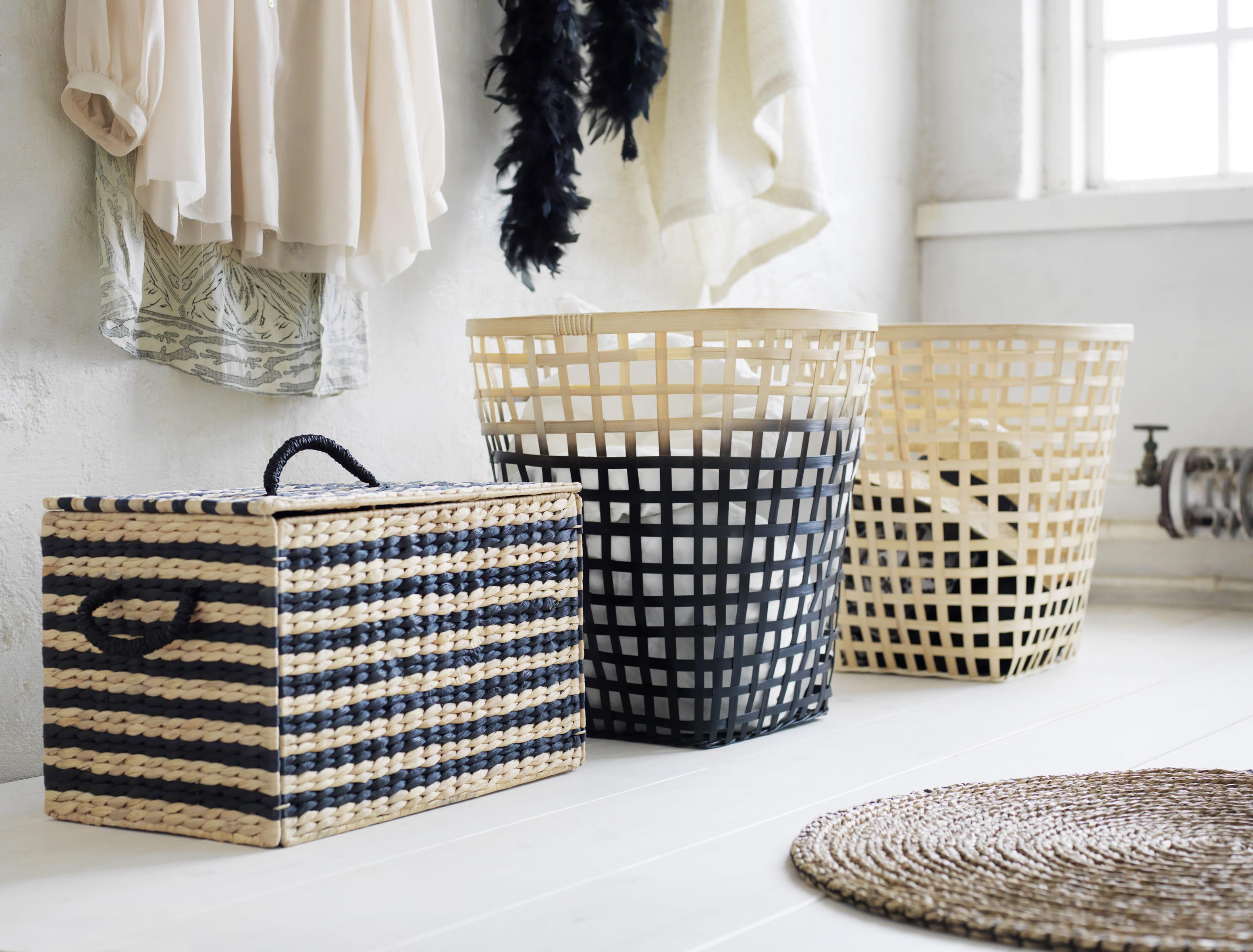 bo te de rangement nipprig ikea rotin et fibres naturelles pour la collection printemps d 39 ikea. Black Bedroom Furniture Sets. Home Design Ideas