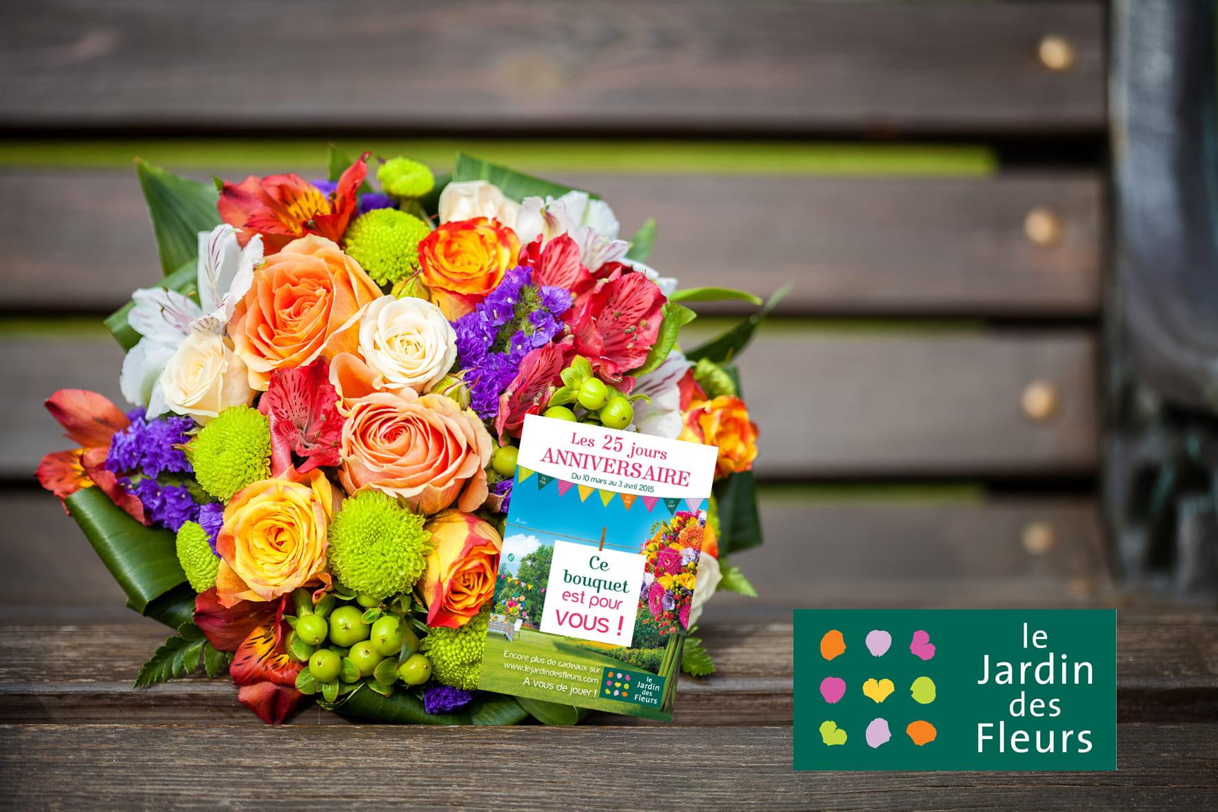Le jardin des fleurs lance une grande chasse aux bouquets for Jardin aux fleurs