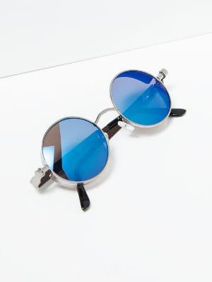 lunettes de soleil effet miroir rondes de zara zara fait son woodstock journal des femmes. Black Bedroom Furniture Sets. Home Design Ideas