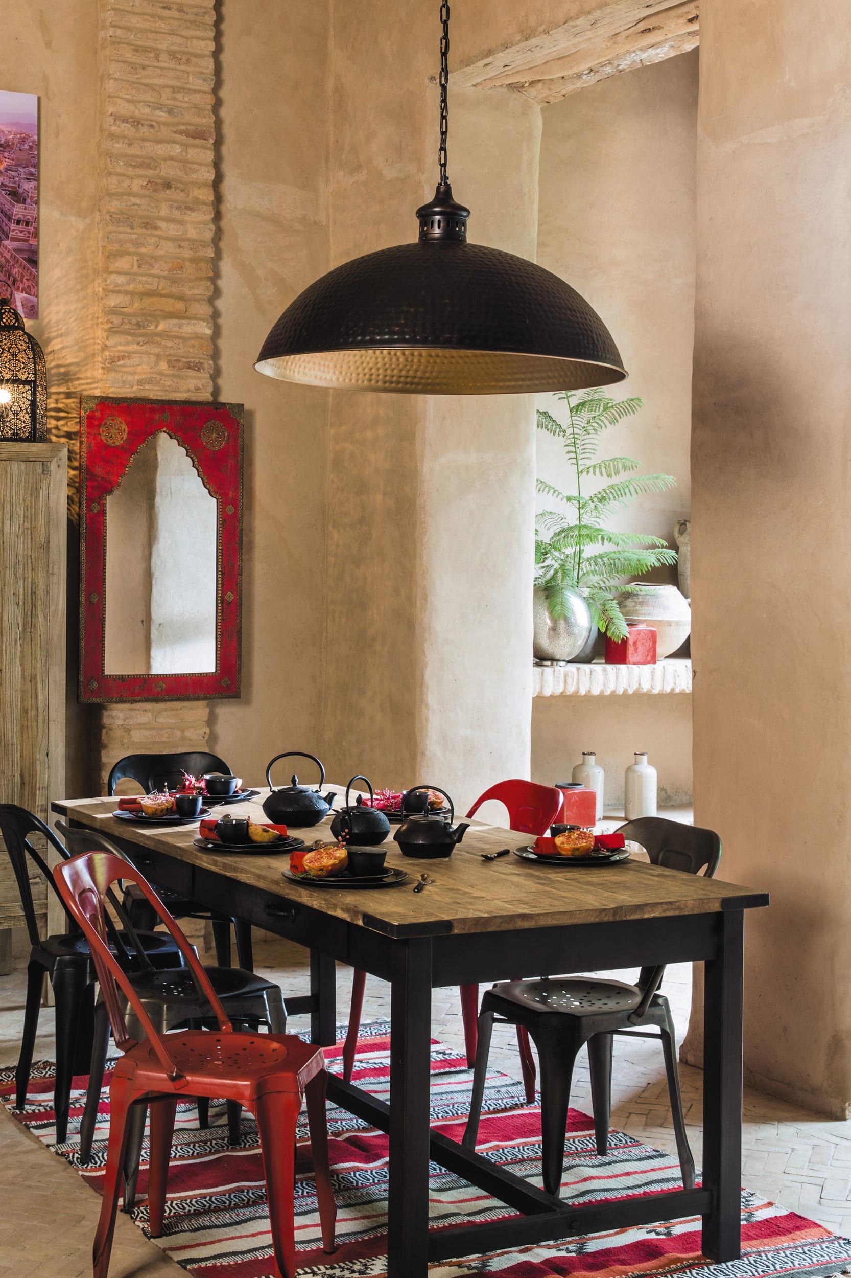 suspension en m tal lagos de maisons du monde quelle suspension au dessus de la table manger. Black Bedroom Furniture Sets. Home Design Ideas