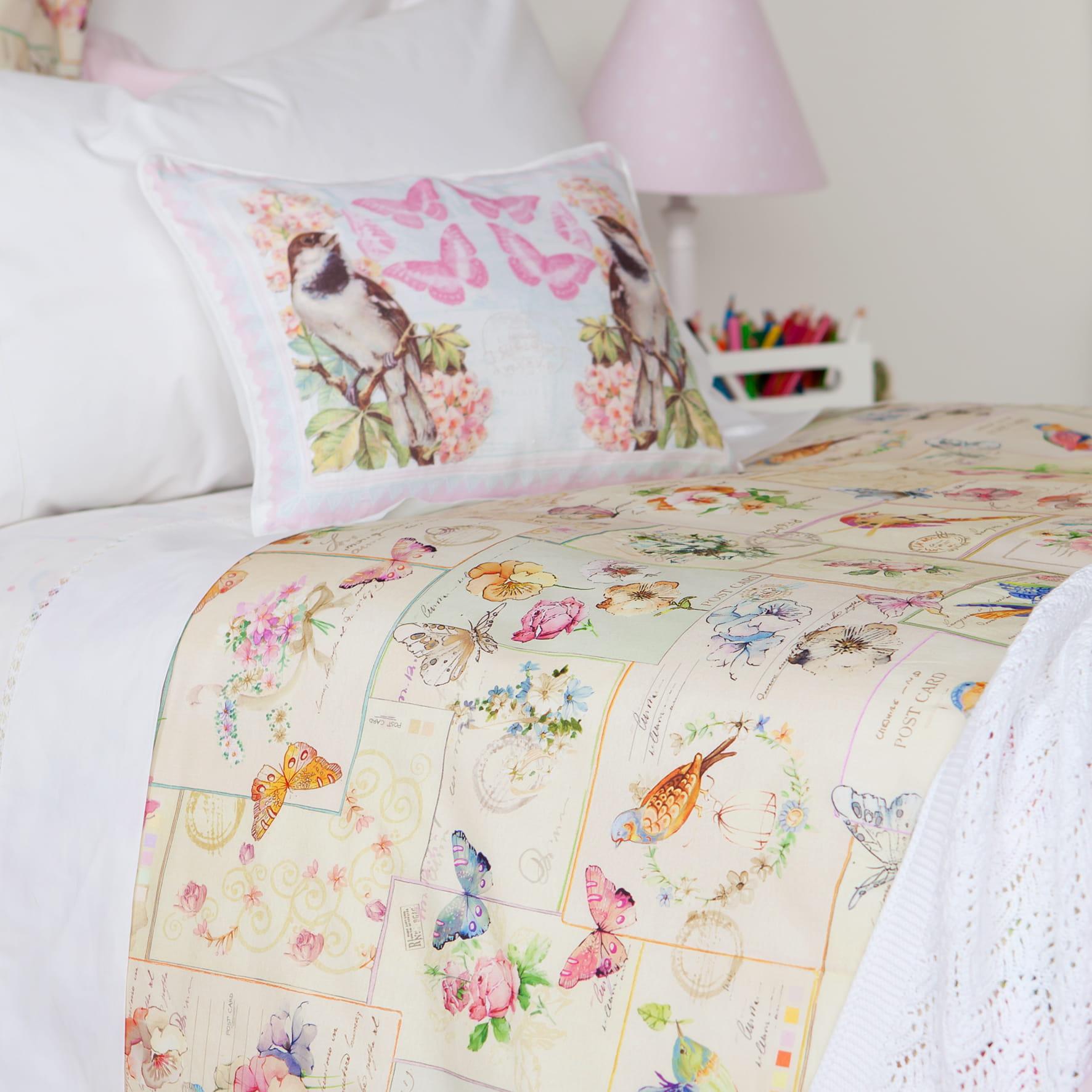 Linge de lit motifs oiseaux de zara home linge de lit for Housse de couette zara home