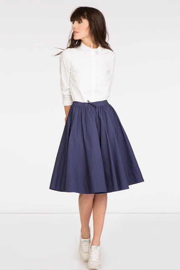 Jupe bleue de comptoir des cotonniers 65 jupes qui nous font une belle jambe journal des femmes - Robe bleue comptoir des cotonniers ...