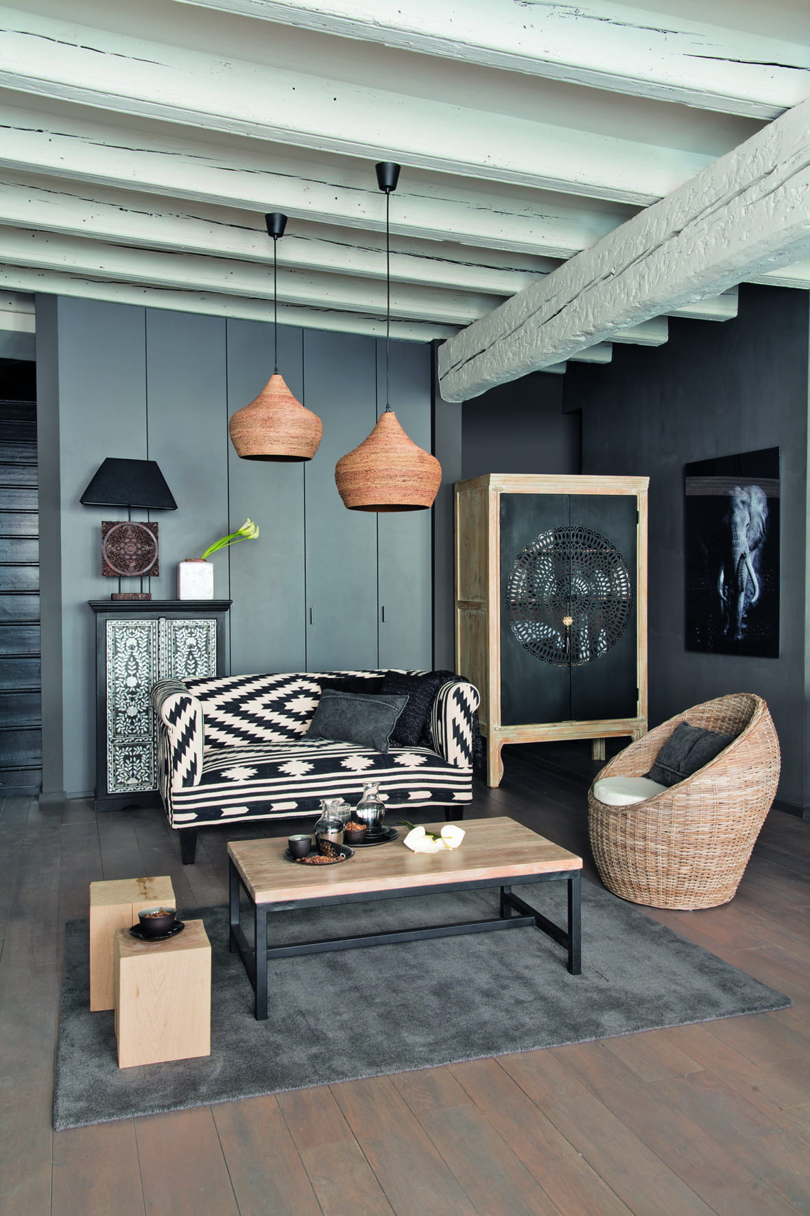 banquette tabriz de maisons du monde d co ethnique chic. Black Bedroom Furniture Sets. Home Design Ideas