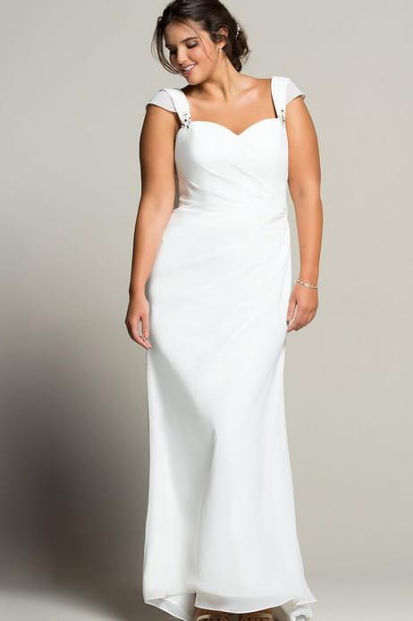 ronde, les robes de mariée aux matières fluides sont faites pour ...