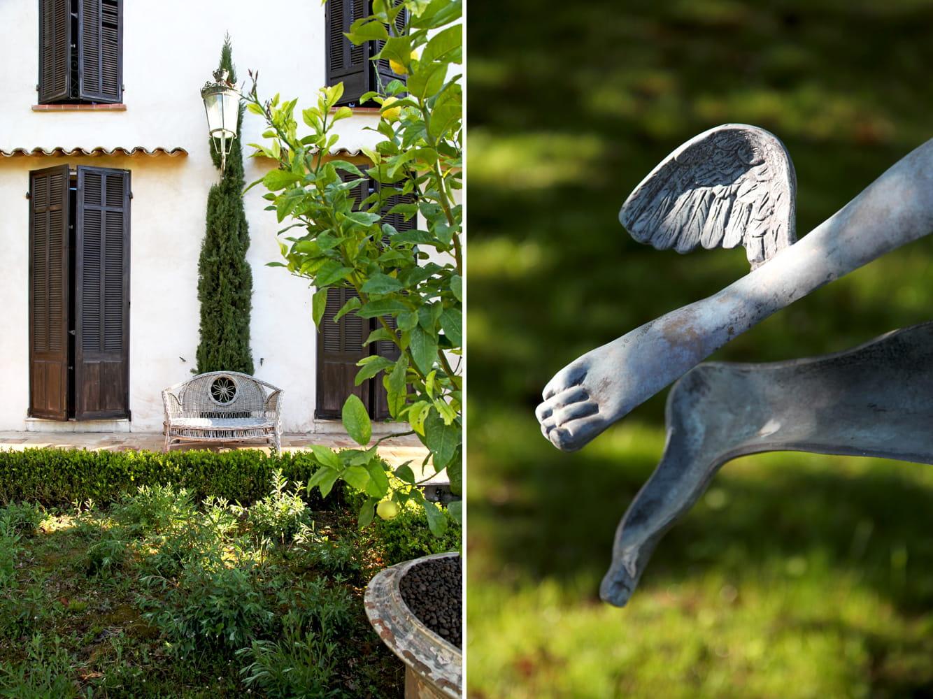 Jardin d 39 art d co chic et chin e dans un domaine du for Art deco jardin