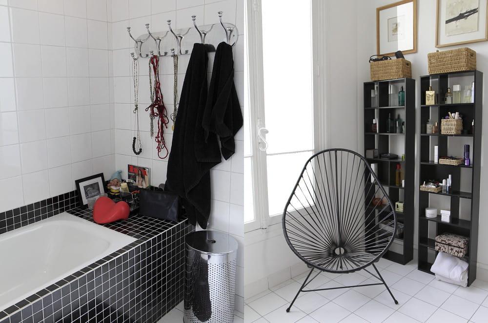 Une salle de bains en noir et blanc le home sweet home - Salle de bain en noir et blanc ...