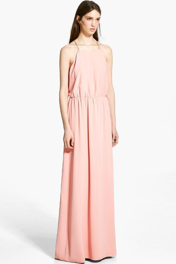 Maxi robe rose p le de mango tenues distingu es pour for Maxi robes florales pour les mariages