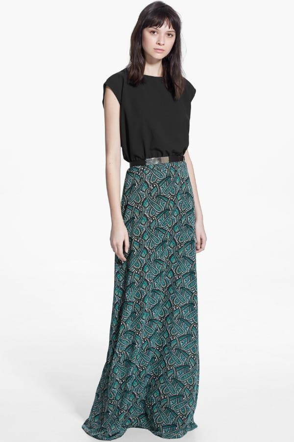 robe longue imprim e de mango robes longues pour effet