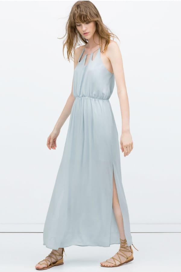 robes l gantes france robe longue bleu pastel. Black Bedroom Furniture Sets. Home Design Ideas