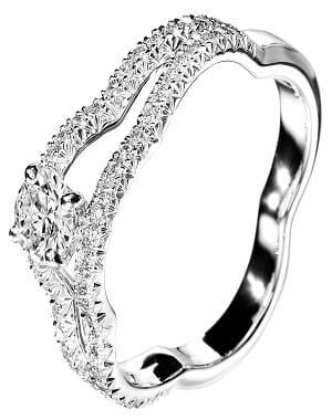 ... de Adamence Bague or jaune diamants Gay frères Fleur de diamant du