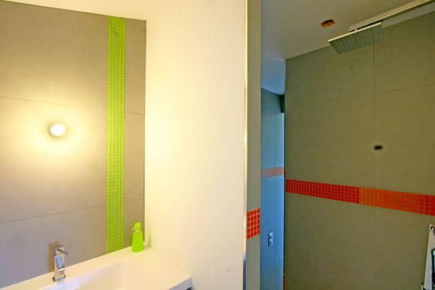 deux salles de bains en une. Black Bedroom Furniture Sets. Home Design Ideas