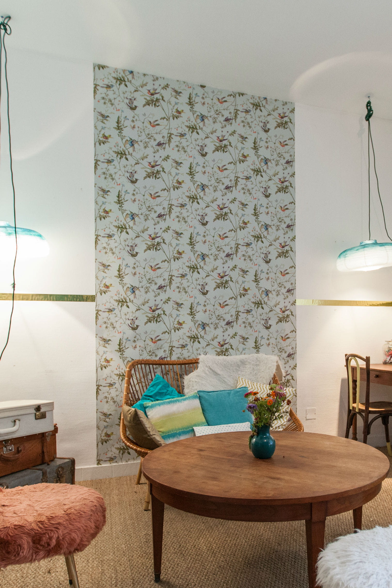donner de la profondeur un l de papier peint c 39 est malin journal des femmes. Black Bedroom Furniture Sets. Home Design Ideas