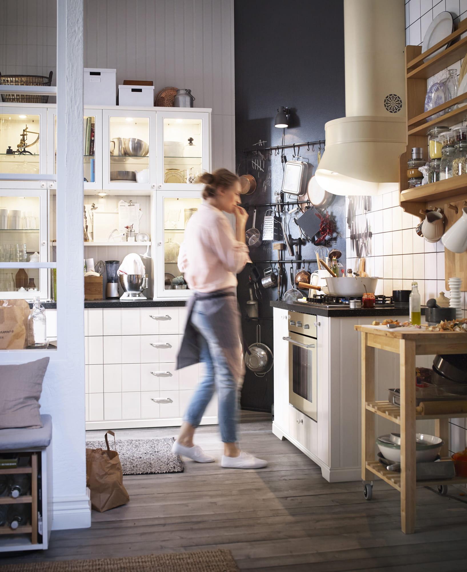 Cuisine Blanche Grise Et Aubergine : La cuisine Metod Hittarp dIKEA  La cuisine IKEA 2016 dans un style