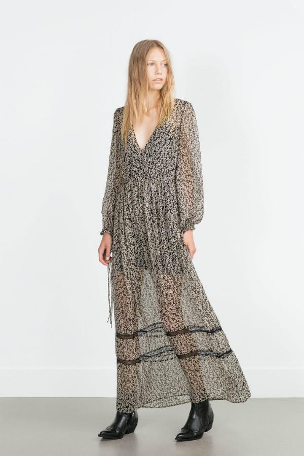 robe fluide de zara une rentr e du bon pied avec les nouveaut s zara journal des femmes. Black Bedroom Furniture Sets. Home Design Ideas