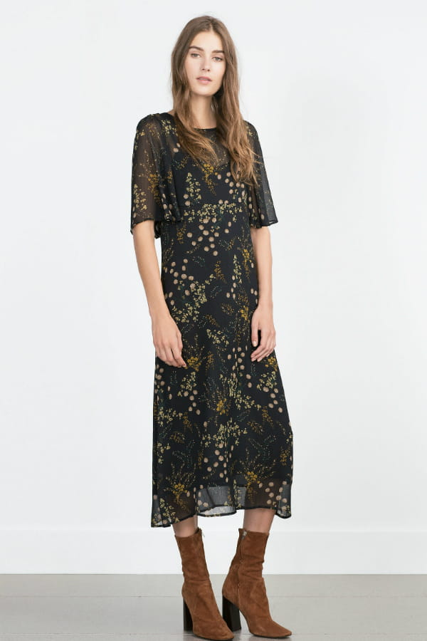 robe fleurie de zara une rentr e du bon pied avec les nouveaut s zara journal des femmes. Black Bedroom Furniture Sets. Home Design Ideas