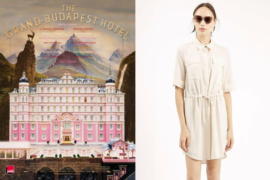 une robe chemise beige fa on agatha dans the grand budapest hotel un dressing tout droit. Black Bedroom Furniture Sets. Home Design Ideas