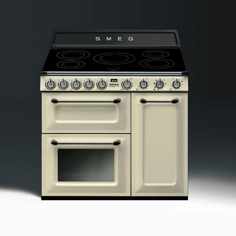 Piano de cuisson esth tique victoria gaz de smeg - Piano induction smeg ...