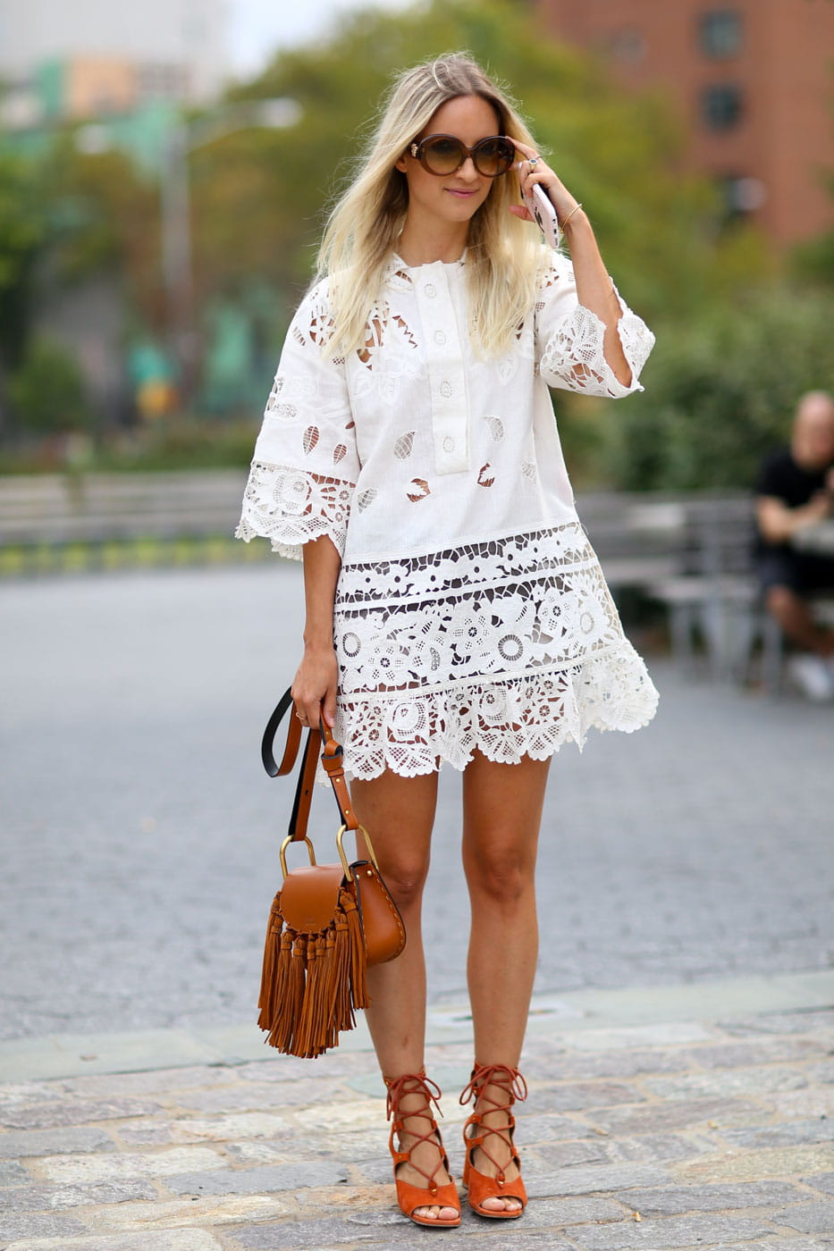 Street Style New York Look Hippie Chic Fashion Week Printemps T 2016 Les Plus Beaux