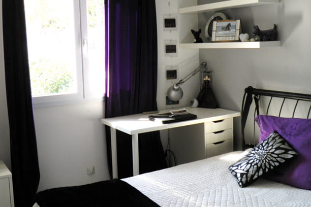 Chambre de fille moderne - Petite chambre dado ...