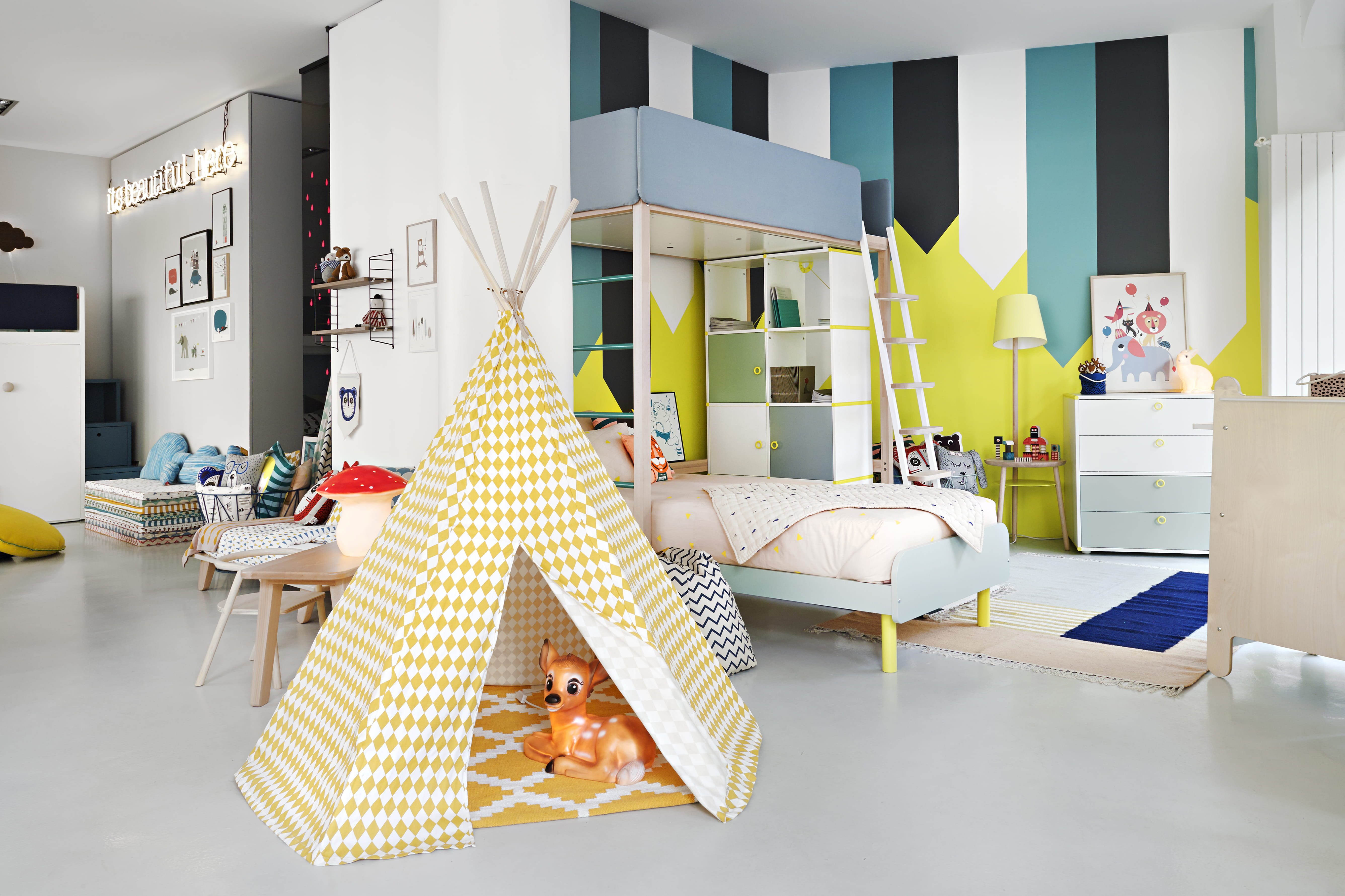 Idee deco grande chambre: décoration d&#;une chambre d&#;enfant ...