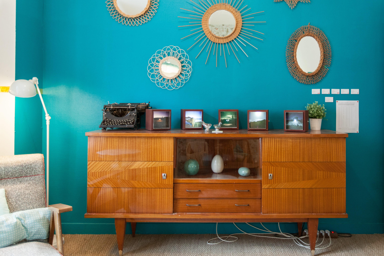 deco salon bleu turquoise dco vintage en turquoise bleu comment l int - Salon Bleu Vintage