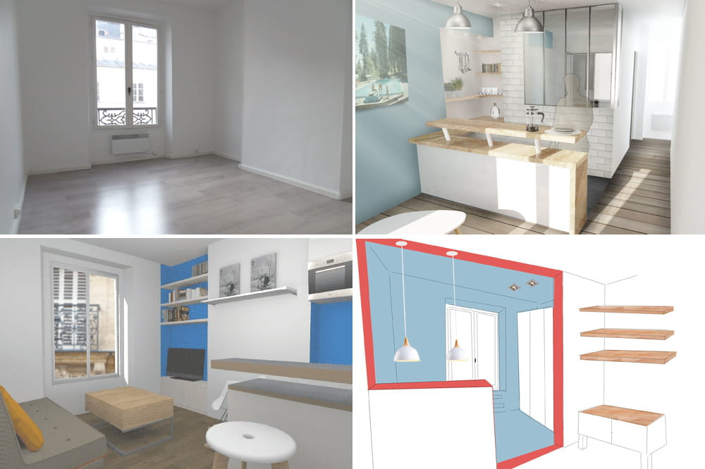 Les Projets Imagin S Pour Cet Appartement De 23 M 3
