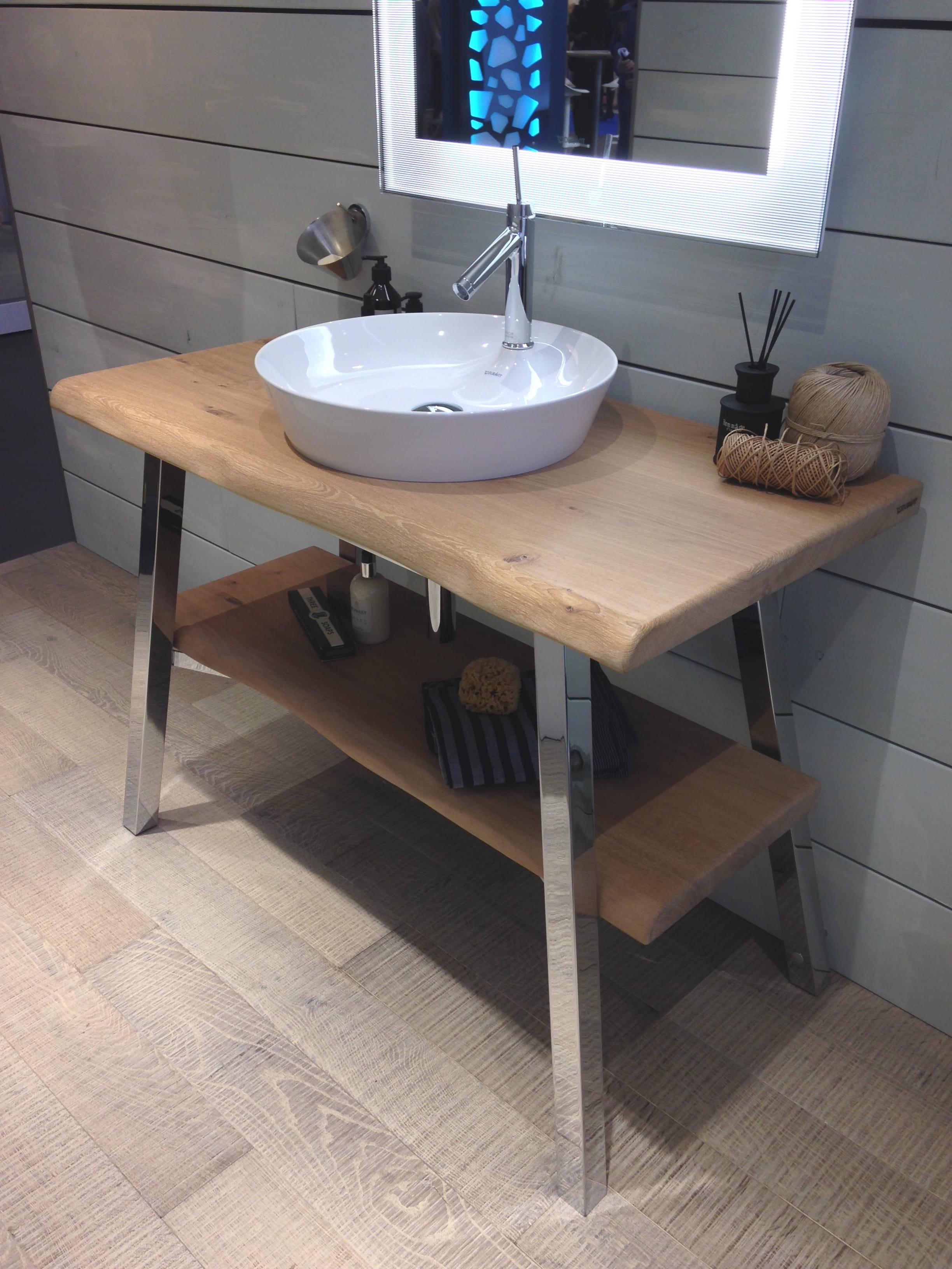 meuble vasque nature philippe starck x duravit salon id obain plong e au c ur des nouveaut s. Black Bedroom Furniture Sets. Home Design Ideas