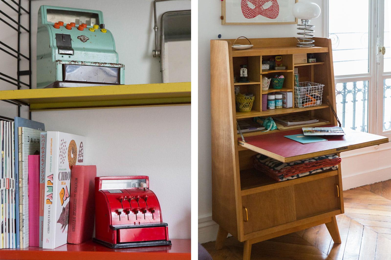 Un esprit collectionneur un int rieur mi vintage mi - Interieur appartement original et ultra moderne a paris ...