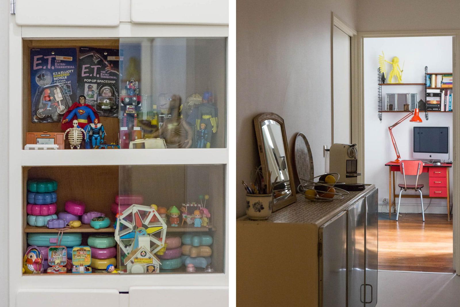 Nostalgie dans le couloir un int rieur mi vintage mi - Interieur appartement original et ultra moderne a paris ...
