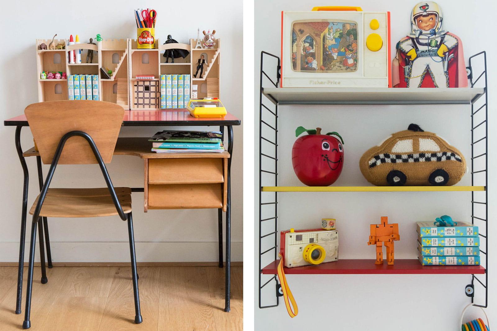 Bureau pour enfant un int rieur mi vintage mi indus 39 et 100 cr atif - Bureau original enfant ...