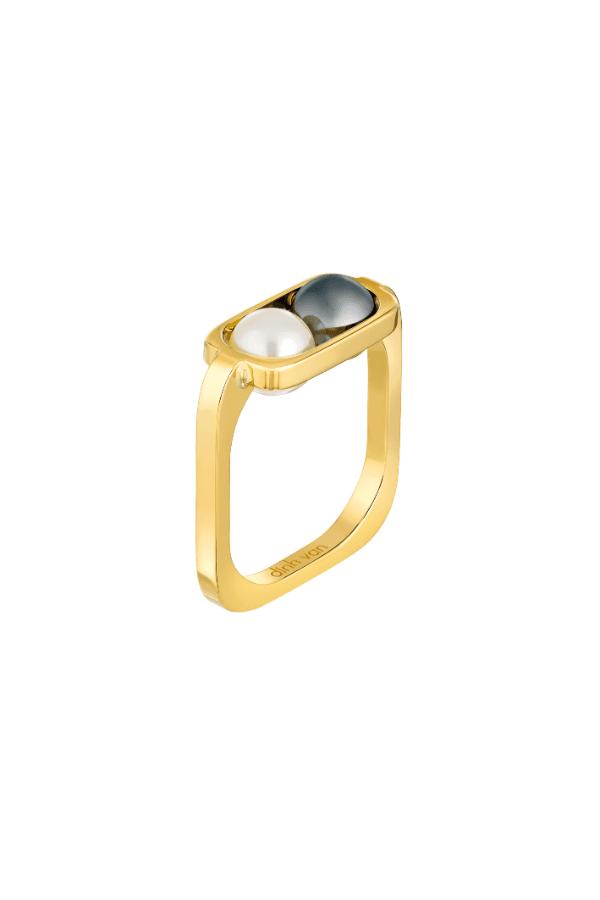 bague 2 perles de dinh van des bijoux de luxe pour un no l tincelant journal des femmes. Black Bedroom Furniture Sets. Home Design Ideas