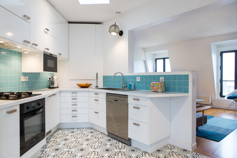 Quelle peinture pour la cuisine journal des femmes - Quelle couleur avec une cuisine blanche ...