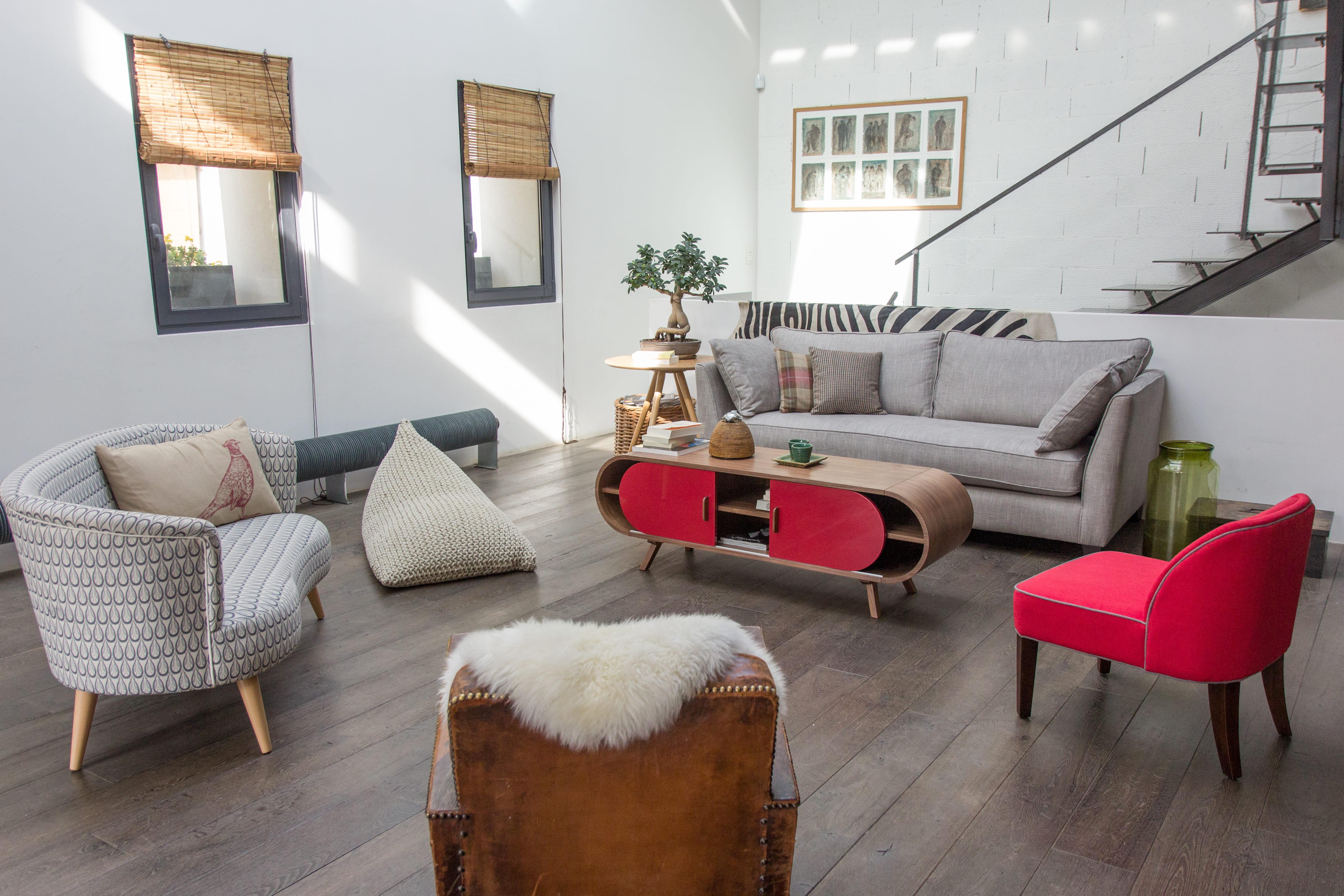 Salon de jardin blanc: table basse vintage double plateau, jimi la ...