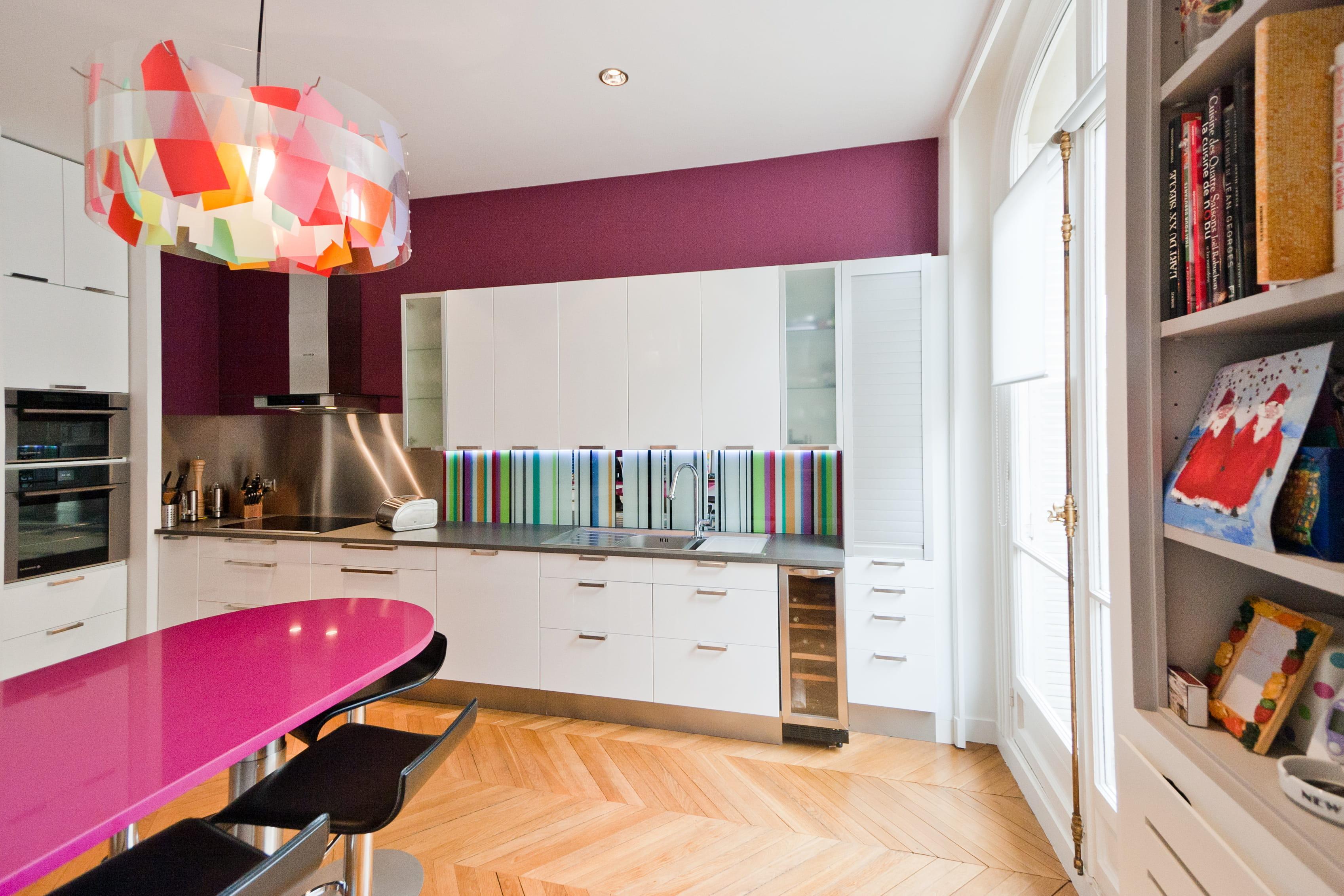 Tableau ardoise cuisine moderne: porte coulissante cuisine ...
