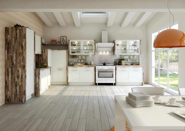 Cuisine z nith par ixina cuisine rustique et si on la - Cuisine blanche et bois clair ...