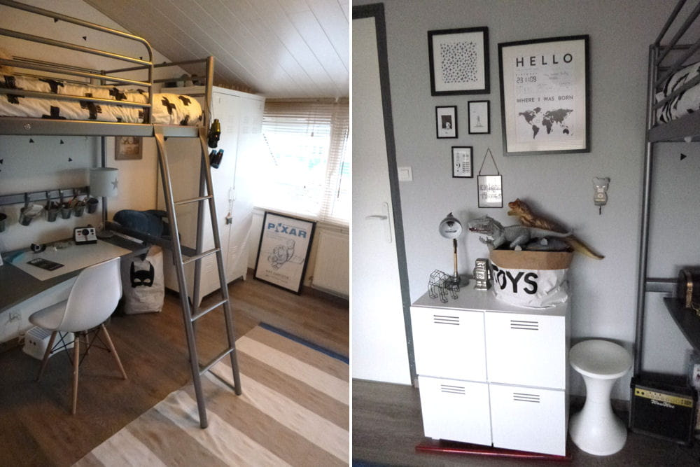 Apr s une chambre pratique avec lit mezzanine avant apr s une nouvelle - Chambre avec lit mezzanine ...