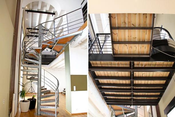 structure des escaliers un loft la d co industrielle et r cup 39 journal des femmes. Black Bedroom Furniture Sets. Home Design Ideas