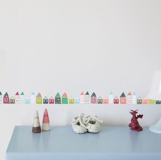 Frise petites maisons par mimi 39 lou chambre de b b for Frise chambre bebe fille