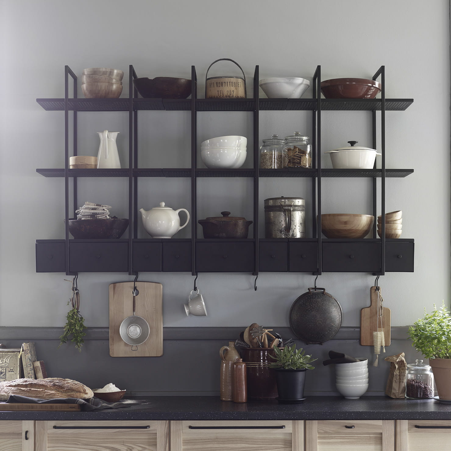 Etagere pour cuisine moderne for Ikea decoration murale