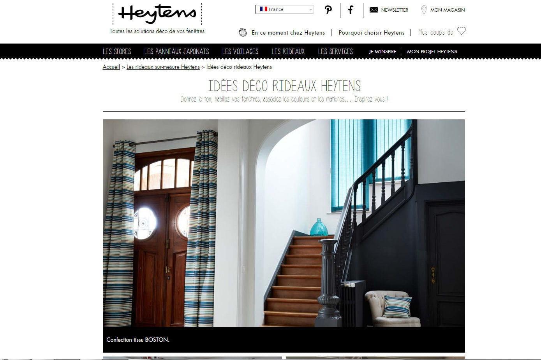 des rideaux sur mesure chez heytens journal des femmes. Black Bedroom Furniture Sets. Home Design Ideas
