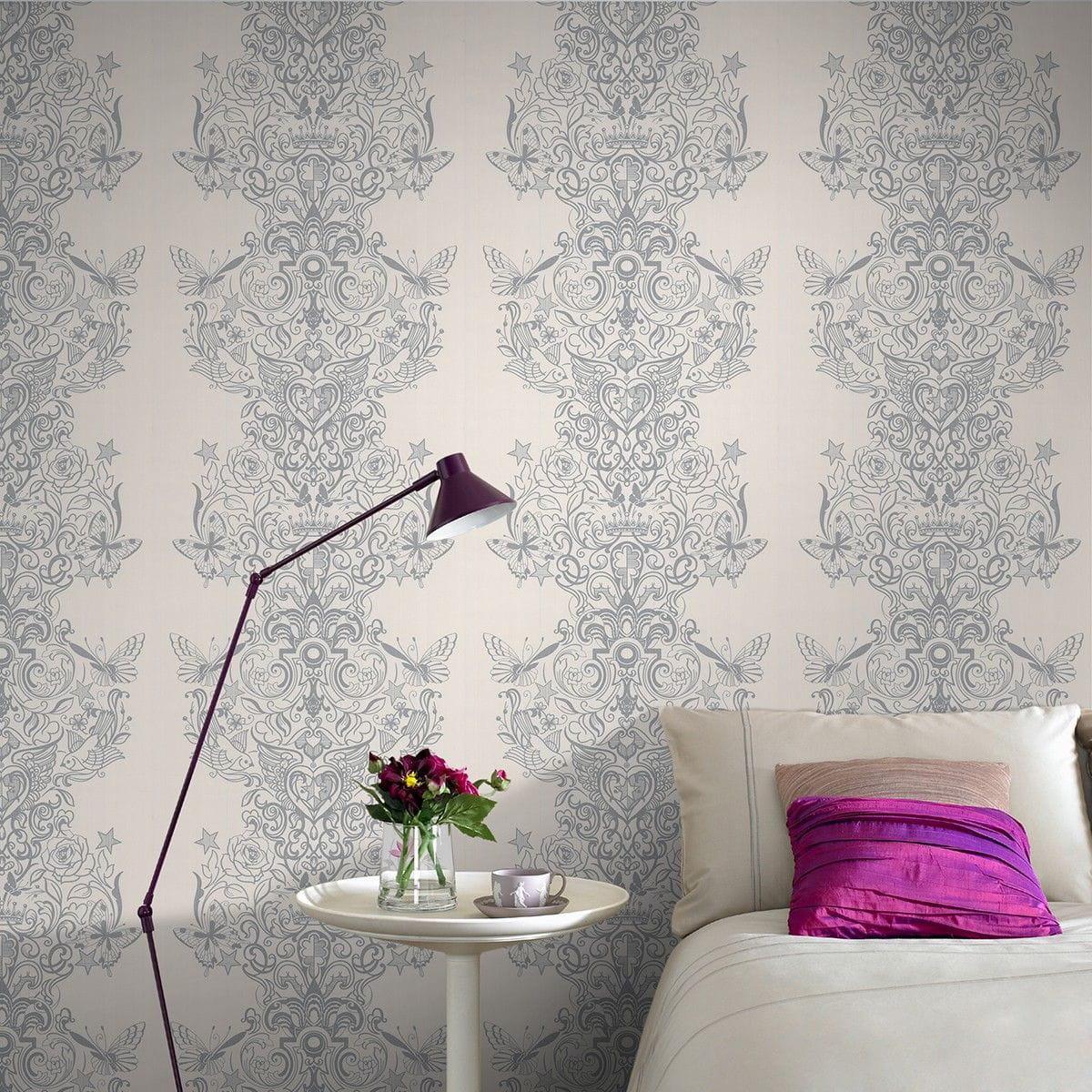 Un papier peint rococo quel papier peint pour ma chambre for Quel papier peint pour salon