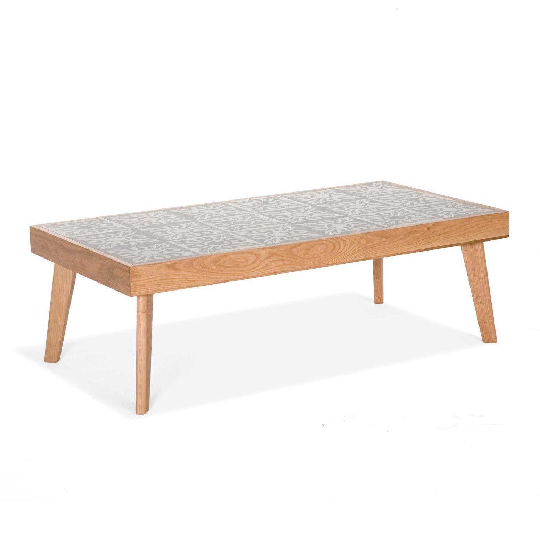 Une table basse carreaux de ciment le carreau de ciment for Une table de
