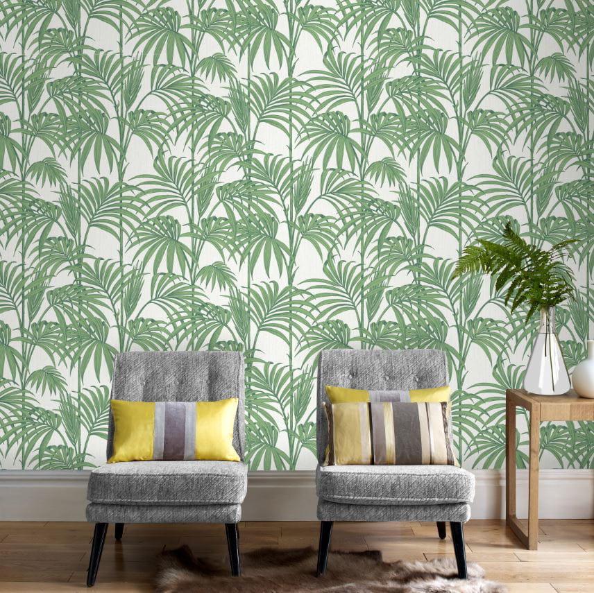 un papier peint imprim jungle l 39 imprim jungle pour une d co luxuriante journal des femmes. Black Bedroom Furniture Sets. Home Design Ideas