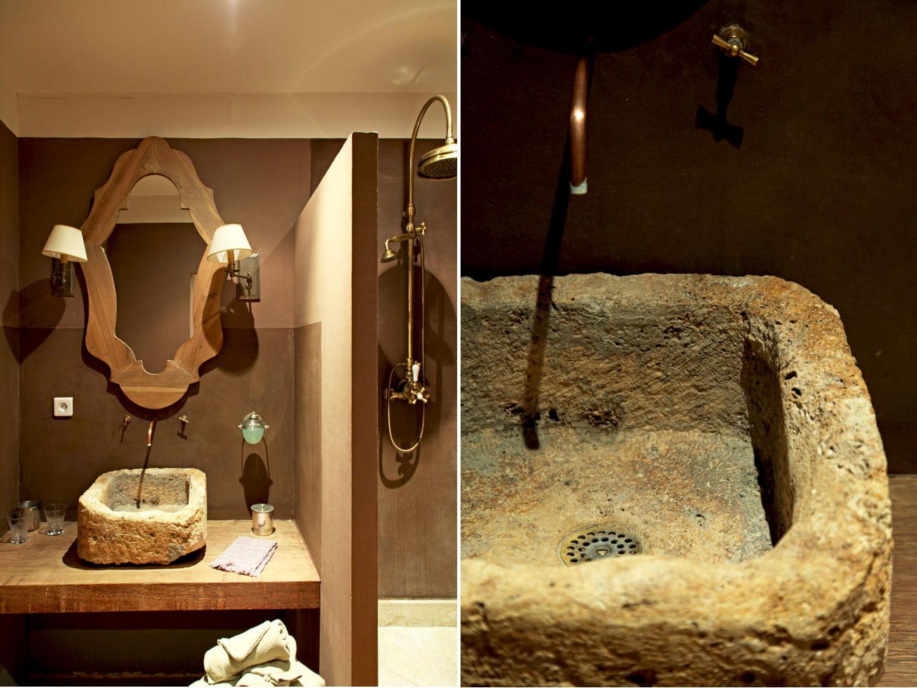 Une vasque récup' pour une salle de bains unique