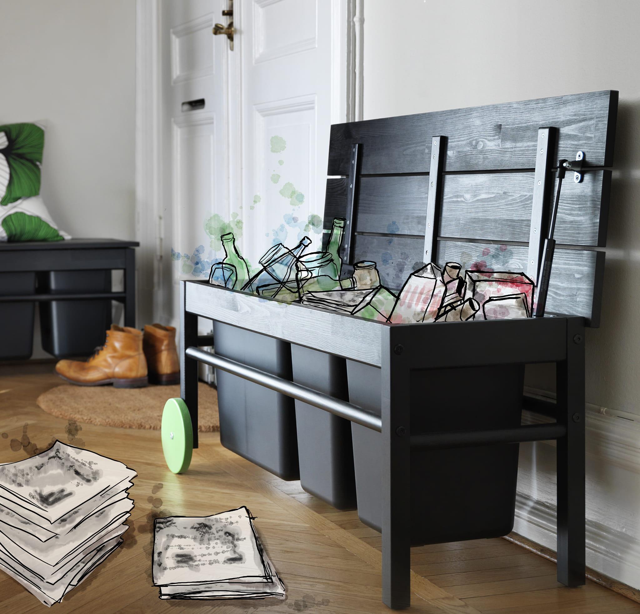 banc pour tri anv ndbar d 39 ikea. Black Bedroom Furniture Sets. Home Design Ideas